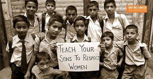 «Διδάξτε του γιούς σας να σέβονται τις γυναίκες»